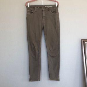 Zara mid rise tan skinny jeans 28